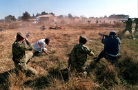 Police firing at ANC supporters, South Africa, 1992