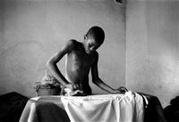 AIDS funeral, South Africa, 2000