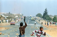 Street clashes, South Africa, 1991