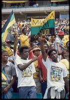 ANC rally for released political prisoners, Soweto, 1989