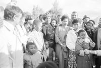 Winnie Mandela and family, Cape Town