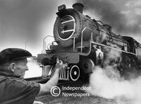 A steam locomotive makes its last trip before being decommissioned, Cape Town