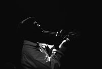 Jazz musician, Robert Sithole, performing live, Cape Town, South Africa