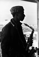Basil Coetzee with his saxophone, Cape Town, South Africa