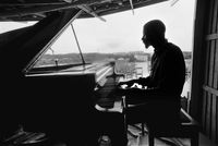 Abdullah Ibrahim practicing on the piano, Cape Town, South Africa