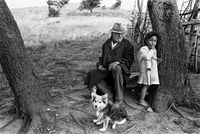 Cecil Green with granddaughter, Mangete, South Africa