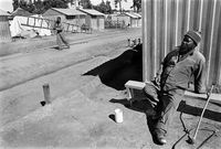 Evicted tenant farm worker, Natal midlands, South Africa