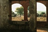 Convent destroyed by Unita, Angola