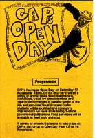 CAP's Open Day programme