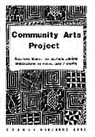Community Arts Project :  full-Ttme course for cultural workers specialising in visual arts / crafts : course brochure 1990