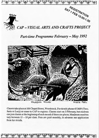 CAP  Visual Arts and Crafts Project : part-time programme February - May 1992