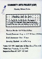 Community Arts Project (CAP) monthly debate series: funding and the arts, Wednesday July 1990