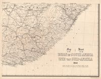 Map of the Union of South Africa, 1944 = Kaart van die Unie van Suid-Afrika. [Sheet 4 of 4]