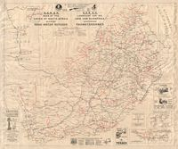 S.A.R & H. map of the Union of South Africa shewing road motor services = S.A.S. & H. landkaart van die Unie van Suid Afrika aantonende padmotordienste