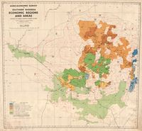 Agro-economic survey of Southern Rhodesia economic regions and areas showing the present European farming pattern