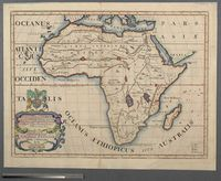 A New Map of Libya or old Africk Showing its general Divisions, most remarkable Countries or People, Cities, Townes, Rivers, Mountains & c
