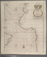 A Generall Chart from England to Cape Bona Espranca with the Coast of Brasile