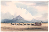 Common travelling horse waggons
