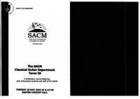 The SACM Classical Guitar Department turns 50 - A celebratory concert featuring past and present students and staff of the SACM, Baxter Concert Hall, Cape Town, South Africa