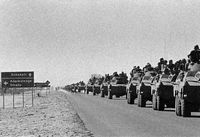 61st Mechanised Battalion heads west to Ruacana en route to Cunene Province in Angola in response to the Cuban advance southwards